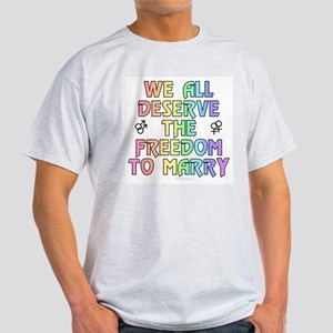We all deserve the freedom to marry (light shirt)