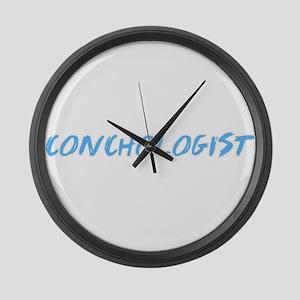 Conchologist Profession Design Large Wall Clock