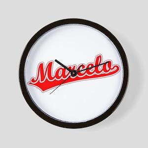 Retro Marcelo (Red) Wall Clock