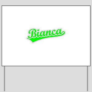 Retro Bianca (Green) Yard Sign