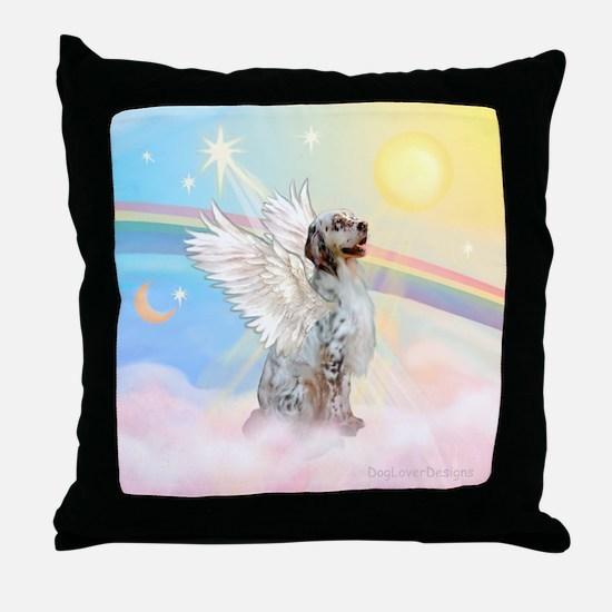 Angel / English Setter Throw Pillow
