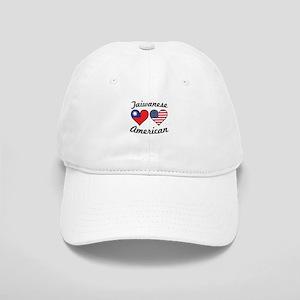 Taiwanese American Flag Hearts Baseball Cap