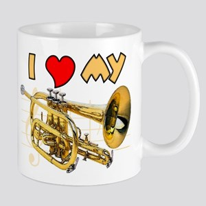 I Love My Cornet Large Mugs