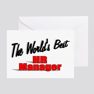 """The World's Best HR Manager"" Greeting Card"