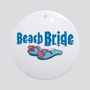 Beach Bride 2 Ornament (Round)