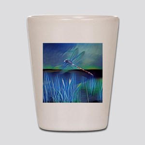 Dragonfly Pond Shot Glass