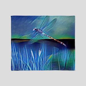 Dragonfly Pond Throw Blanket