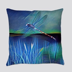 Dragonfly Pond Everyday Pillow
