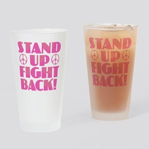 Stand Up Fight Back Drinking Glass