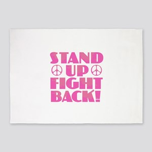 Stand Up Fight Back 5'x7'Area Rug