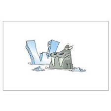 W Is For Walrus Large Poster