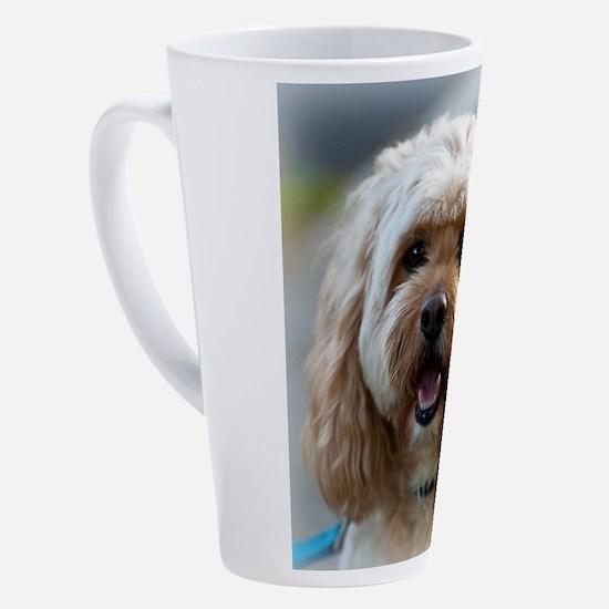 Cute Rescued dog 17 oz Latte Mug