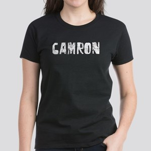 Camron Faded (Silver) Women's Dark T-Shirt