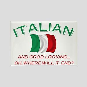 Gd Lkg Italian 2 Rectangle Magnet