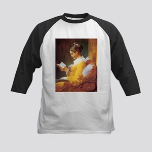 Young Girl Reading c. 1776 Kids Baseball Jersey