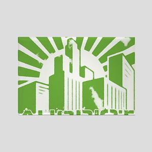 aubriot city Rectangle Magnet