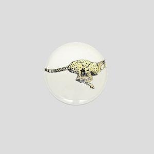 Vintage Running Cheetah Mini Button