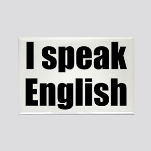 I speak English Rectangle Magnet