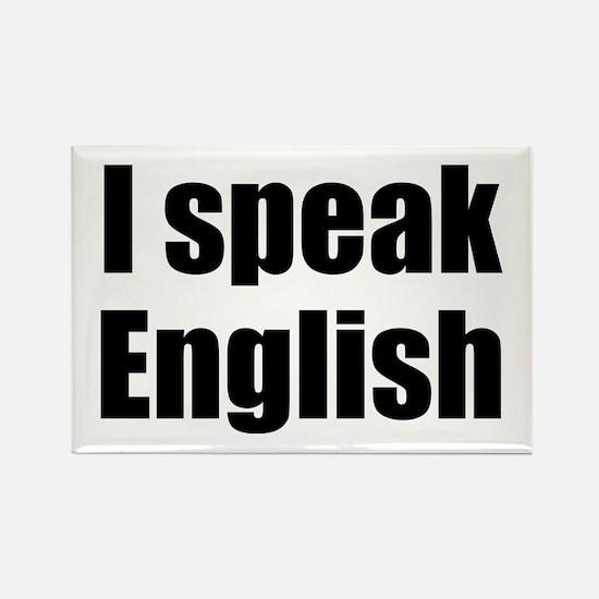 I speak English Rectangle Magnet