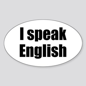 I speak English Oval Sticker