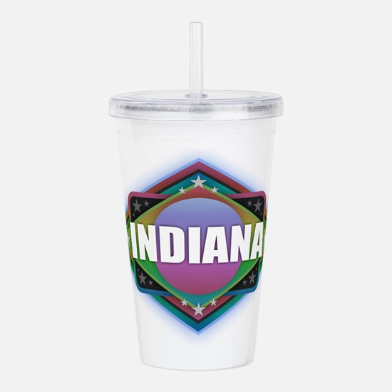 Indiana Diamond Acrylic Double-wall Tumbler