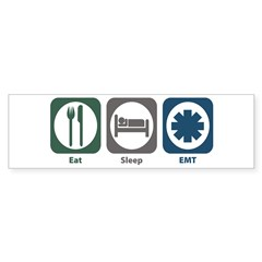 Eat Sleep EMT Bumper Sticker (50 pk)