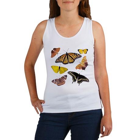 'Butterfly Butterfly!' White Women's Tank Top