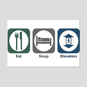 Eat Sleep Elevators Mini Poster Print