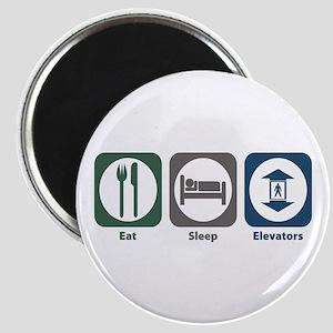 Eat Sleep Elevators Magnet
