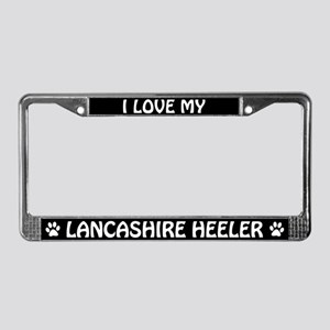 I Love My Lancashire Heeler License Plate Frame