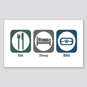 Eeg And Brain Rectangle Stickers - CafePress