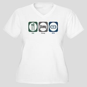 Eat Sleep EEG Women's Plus Size V-Neck T-Shirt