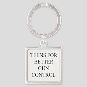 Teens For Gun Control! Square Keychain Keychains