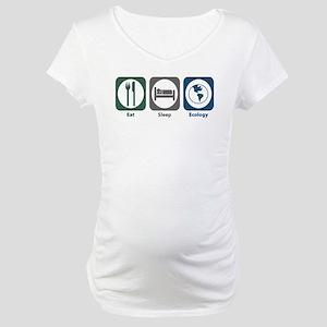 Eat Sleep Ecology Maternity T-Shirt