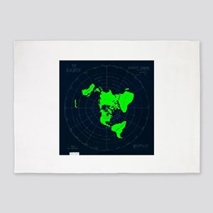 Flat Earth Map Disk 5'x7'Area Rug