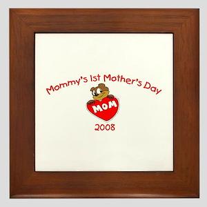 Mommy's 1st Mother's Day 2008 (Bear) Framed Tile