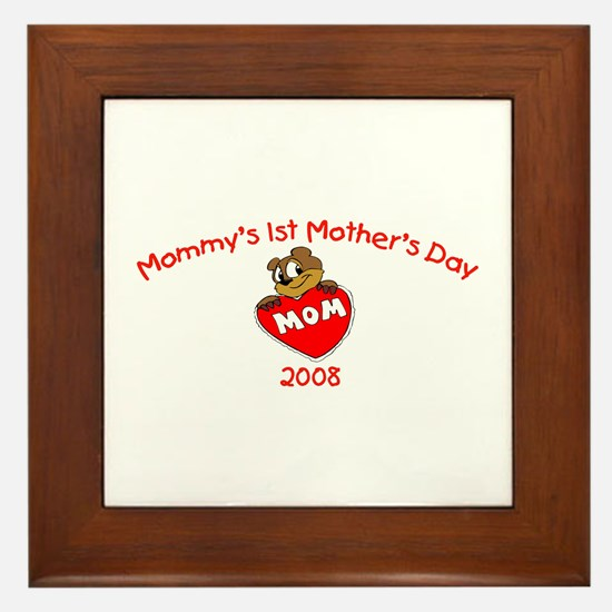 Mommy's 1st Mother's Day 2008 (Bear) Framed Tile