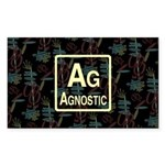 AGNOSTIC RETRO Rectangle Sticker 10 pk)