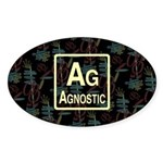 AGNOSTIC RETRO Oval Sticker (50 pk)