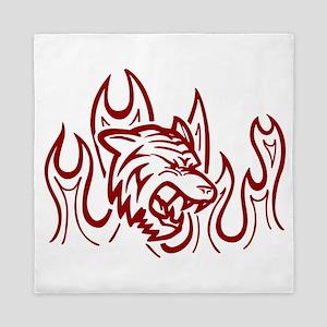 Red Tiger Queen Duvet