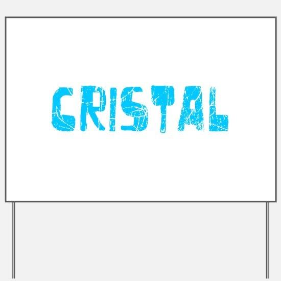 Cristal Faded (Blue) Yard Sign