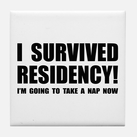 Residency Survivor Tile Coaster