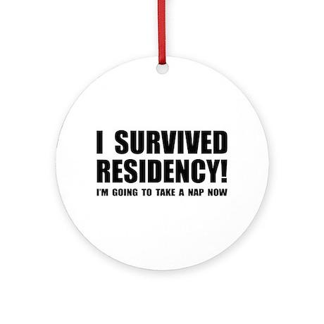 Residency Survivor Ornament (Round)