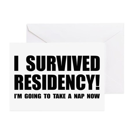 Residency Survivor Greeting Cards (Pk of 10)