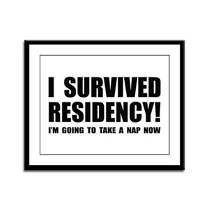Residency Survivor Framed Panel Print