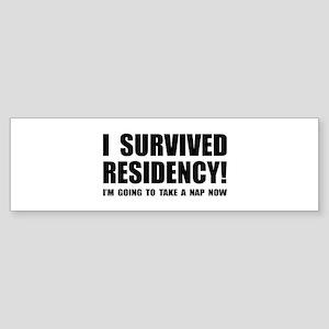 Residency Survivor Bumper Sticker