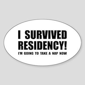 Residency Survivor Oval Sticker
