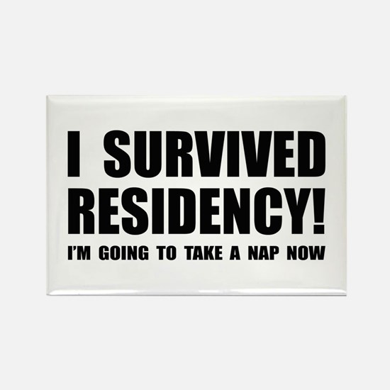 Residency Survivor Rectangle Magnet