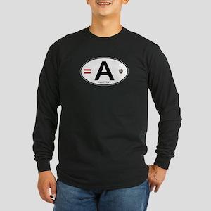 Austria Euro Oval Long Sleeve Dark T-Shirt