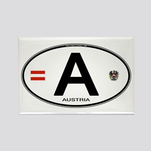 Austria Euro Oval Rectangle Magnet